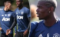 Paul Pogba spotted in Man United training – but star is BANNED for Bournemouth trip